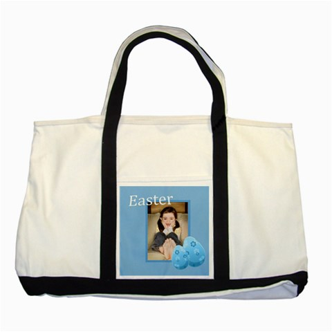 Easter By Wood Johnson   Two Tone Tote Bag   Ugzfomgts689   Www Artscow Com Front