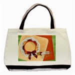 Love/Floral tote, 1 side, template - Basic Tote Bag