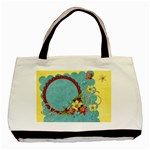 Floral/Spring tote, 1 side, template - Basic Tote Bag