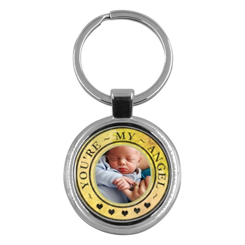 You re My Angel Round Key Chain by Lil Front