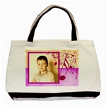 Must be the Music Violet Tote 2 sided - Basic Tote Bag (Two Sides)