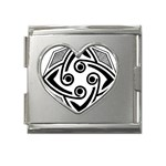 Gp034tc Mega Link Heart Italian Charm (18mm)