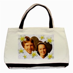 Frangipani Love 2 Sided Classic Tote By Deborah   Basic Tote Bag (two Sides)   7kad1ymf0qpv   Www Artscow Com Front
