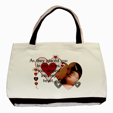 New Baby Classic Tote Bag By Lil    Basic Tote Bag   O034qvh95yv8   Www Artscow Com Front