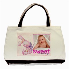 Sweet Nothings Baby Girl Double Sided Tote By Catvinnat   Basic Tote Bag (two Sides)   Mo99tjolpzgi   Www Artscow Com Front