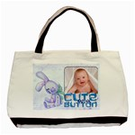 Cute as a Button Baby Boy Double sided tote - Basic Tote Bag (Two Sides)