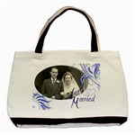 Just Married Double sided Tote Bag - Basic Tote Bag (Two Sides)
