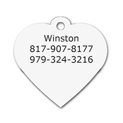 Winston By Amanda Underhill   Dog Tag Heart (two Sides)   Pqcmypeeqx1e   Www Artscow Com Back