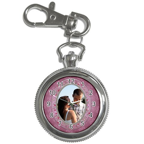 Pretty Pink Key Chain Watch By Lil    Key Chain Watch   0ovqpmentigz   Www Artscow Com Front