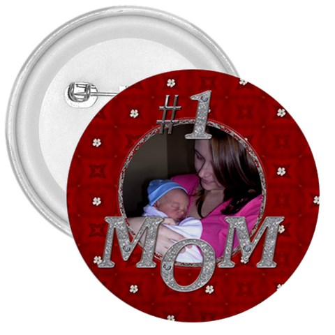 #1 Mom 3  Button By Lil    3  Button   Xtnx1lkynhmz   Www Artscow Com Front