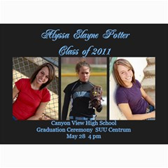 Alyssa Graduation Announcement By Susan Potter   5  X 7  Photo Cards   Hrb5ffivxo4x   Www Artscow Com 7 x5 Photo Card - 4