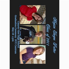 Alyssa Graduation Announcement By Susan Potter   5  X 7  Photo Cards   Hrb5ffivxo4x   Www Artscow Com 7 x5 Photo Card - 5