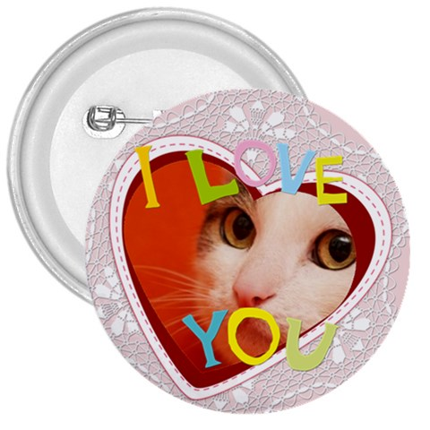 I Love You By Joely   3  Button   Ve96td2ppg7r   Www Artscow Com Front