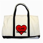 SHOPPING BAG - Two Tone Tote Bag