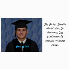Zack s Grad Card By Doug Mason   4  X 8  Photo Cards   Kek99567i5e3   Www Artscow Com 8 x4 Photo Card - 4