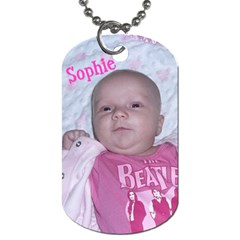 Sophie By Randi L  Stanley   Dog Tag (two Sides)   71lc5vo28n1o   Www Artscow Com Back