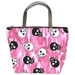 pink skull4 bucket bag