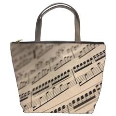 Sheet Music2 Bucket Bag By Bags n Brellas   Bucket Bag   W8qnx5lcycjk   Www Artscow Com Front