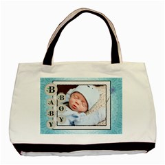 Baby Boy Blue Classic Tote Bag By Lil    Basic Tote Bag (two Sides)   8mzij77kcnh5   Www Artscow Com Front