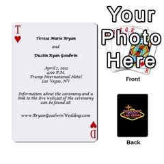 Wedding Invites By Teresa Bryan   Playing Cards 54 Designs   Ug0hkuf879ku   Www Artscow Com Front - Heart3