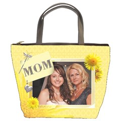 Yellow Floral Mom Bucket Bag By Lil    Bucket Bag   02fdskgimdv1   Www Artscow Com Front