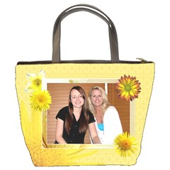 Yellow Floral Mom Bucket Bag By Lil    Bucket Bag   02fdskgimdv1   Www Artscow Com Back