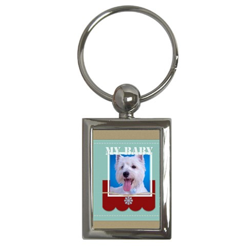 My Baby By Joely   Key Chain (rectangle)   Hnvj1rutuoug   Www Artscow Com Front