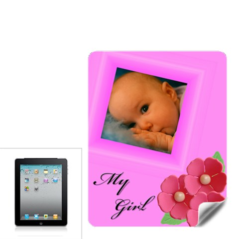 My Girl Apple Ipad Skin By Deborah   Apple Ipad Skin   Sqv0kyy7qt7f   Www Artscow Com Front
