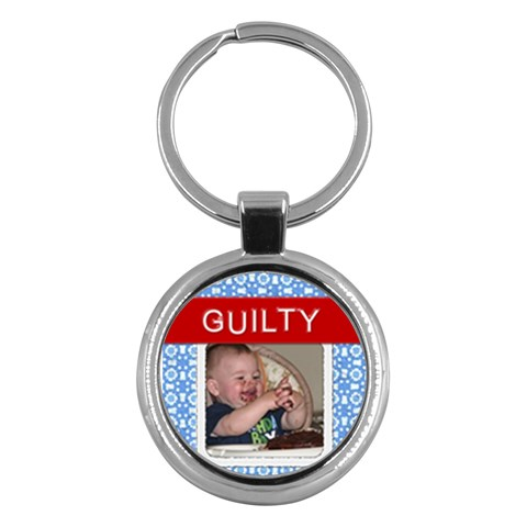 Guilty Round Key Chain By Lil    Key Chain (round)   Bz0ln4puqjj8   Www Artscow Com Front