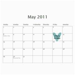 Debbie By Rachel Wood   Wall Calendar 11  X 8 5  (12 Months)   Aljnv8mp5hoj   Www Artscow Com May 2011