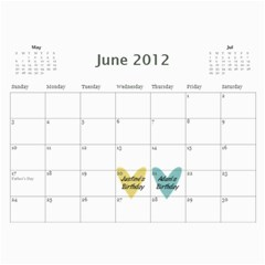 Debbie By Rachel Wood   Wall Calendar 11  X 8 5  (12 Months)   Aljnv8mp5hoj   Www Artscow Com Jun 2012