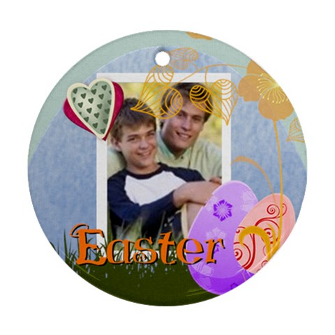 Hapy Easer By Joely   Ornament (round)   Hw75gtukqjm5   Www Artscow Com Front