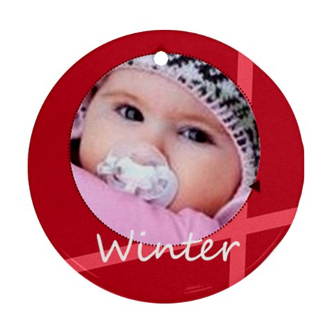 Winter By Wood Johnson   Ornament (round)   Iolrz7saac72   Www Artscow Com Front
