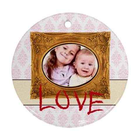 Kids Love By Wood Johnson   Ornament (round)   Gutz4hcpbvuo   Www Artscow Com Front