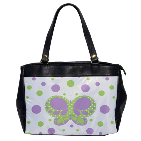 Butterfly Dots Purple/green Oversized Office Hangbag By Andreas Lil Pixels   Oversize Office Handbag   P1v6vy9cwpl9   Www Artscow Com Front