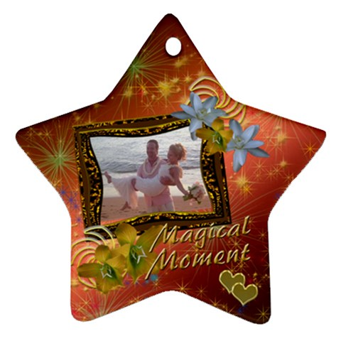 Magical Moment Starburst Star Ornament By Ellan   Ornament (star)   Ej8y0ue0ik36   Www Artscow Com Front