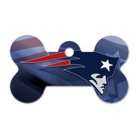 Patriots By Amazing Moi   Dog Tag Bone (one Side)   Zj9uev0dnk76   Www Artscow Com Front