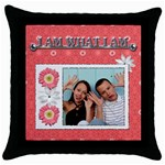 I Am What I Am Pillow Case - Throw Pillow Case (Black)