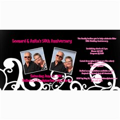 50 Wedding Invitation By Anita Kulbatski   4  X 8  Photo Cards   Ld0etp6m9r4p   Www Artscow Com 8 x4 Photo Card - 1