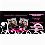 50 wedding invitation - 4  x 8  Photo Cards