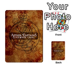Aether Captains: Clockwork Cabal By Todd Sanders   Multi Purpose Cards (rectangle)   Vtxd0r9fkzjt   Www Artscow Com Back 1
