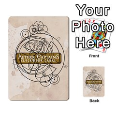 Aether Captains: Clockwork Cabal By Todd Sanders   Multi Purpose Cards (rectangle)   Vtxd0r9fkzjt   Www Artscow Com Back 52