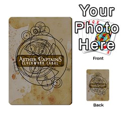 Aether Captains: Clockwork Cabal By Todd Sanders   Multi Purpose Cards (rectangle)   Vtxd0r9fkzjt   Www Artscow Com Back 45