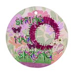 Spring has Sprung Round Pastel Ornament - Ornament (Round)