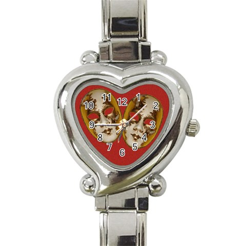 Mask Watch By Elena Petrova   Heart Italian Charm Watch   Kj8rrkdqanp0   Www Artscow Com Front