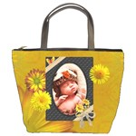 Pretty Yellow Floral Bucket Bag