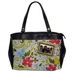 Spring Easter Floral Handbag - Oversize Office Handbag (One Side)