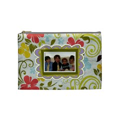 Spring Floral Medium Cosmetic Bag By Redhead Scraps   Cosmetic Bag (medium)   26ffih6bzyb2   Www Artscow Com Front