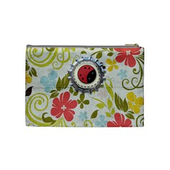 Spring Floral Medium Cosmetic Bag By Redhead Scraps   Cosmetic Bag (medium)   26ffih6bzyb2   Www Artscow Com Back