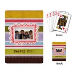 Spring Easter Stripe Playing Cards - Playing Cards Single Design